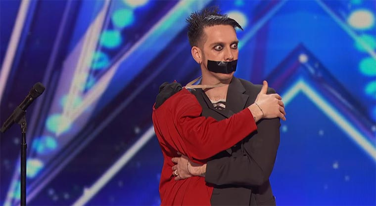 The Boy With Tape On His Face war bei America's Got Talent