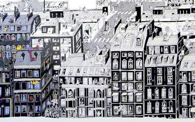 Parisian-Neighbourhood-drawing