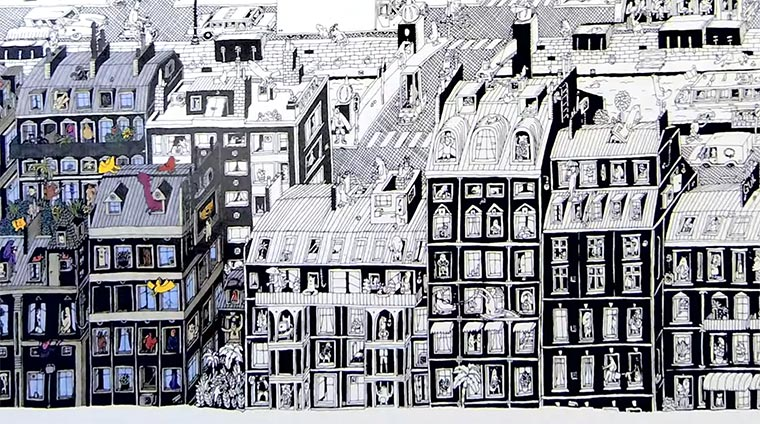 Parisian-Neighbourhood-drawing