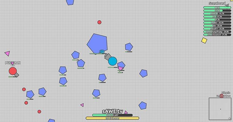 diep.io ist Multiplayer Panzer-Ballerei diep-io