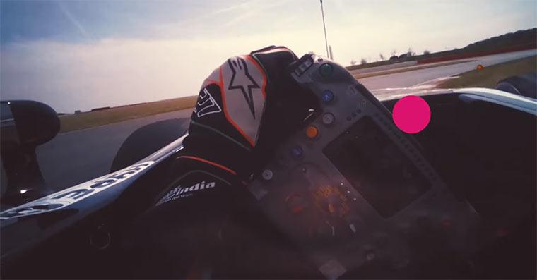 Die Augenbewegungen eines Formel 1-Fahrers