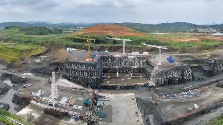 Timelapse vom Panama Kanal-Bau