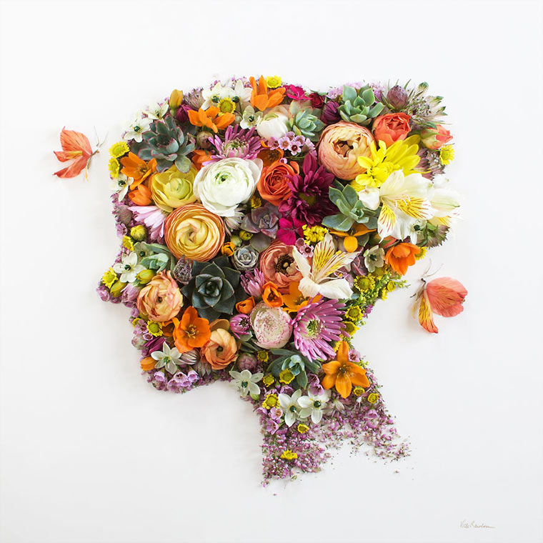 Gesichter aus Blumen und Zweigen vicki-flower-art_03