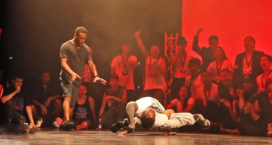 Geiler Freestyle Breakdance Battle bboy-battle