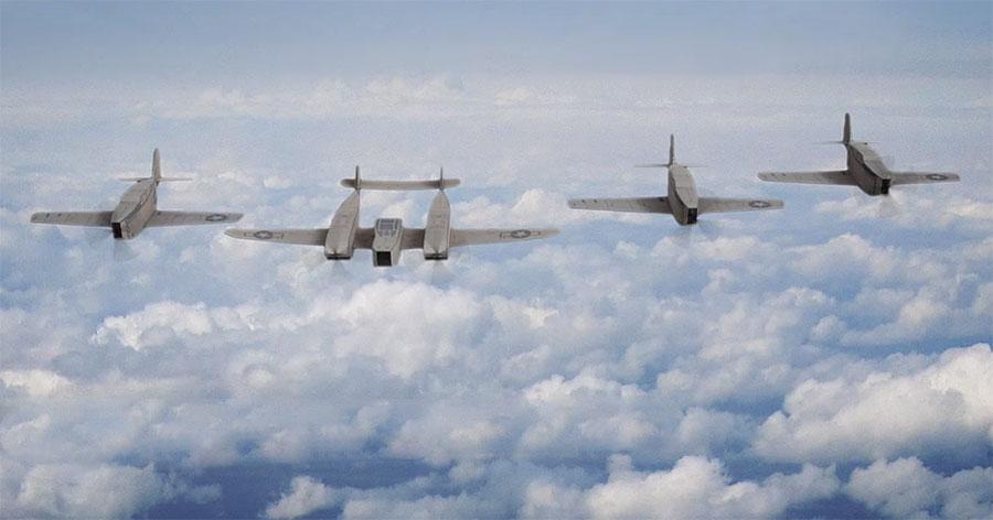 Fliegerkrieg aus Pappkarton cardboard-warfare-25