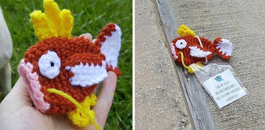 Knotty Nicole versteckt gehäkelte Pokémon an Pokestops haekel-pokemon_02