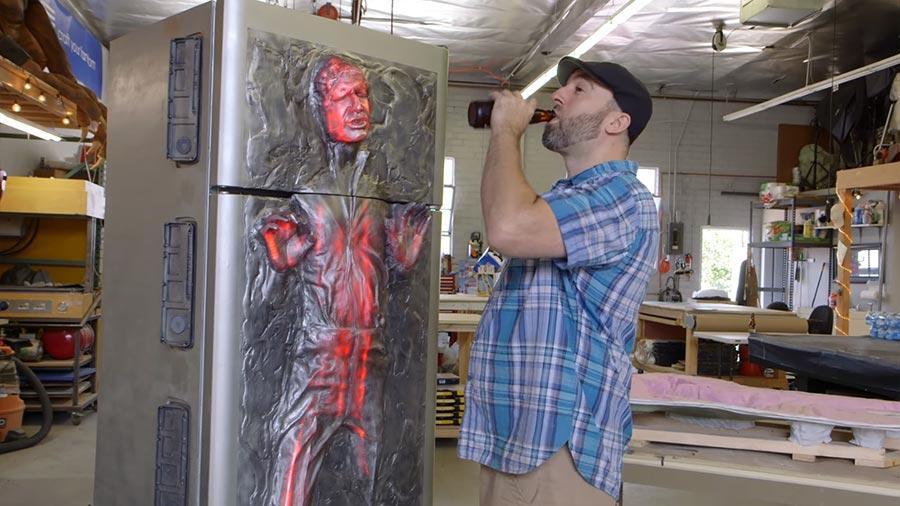 Han Solo in Karbonit-Kühlschrank han-solo-karbonit-kuehlschrank