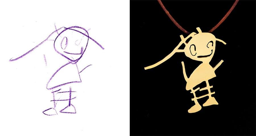Aus Kinderzeichnungen werden Schmuckstücke kinderzeichnungen-schmuck_01