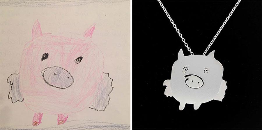 Aus Kinderzeichnungen werden Schmuckstücke kinderzeichnungen-schmuck_02