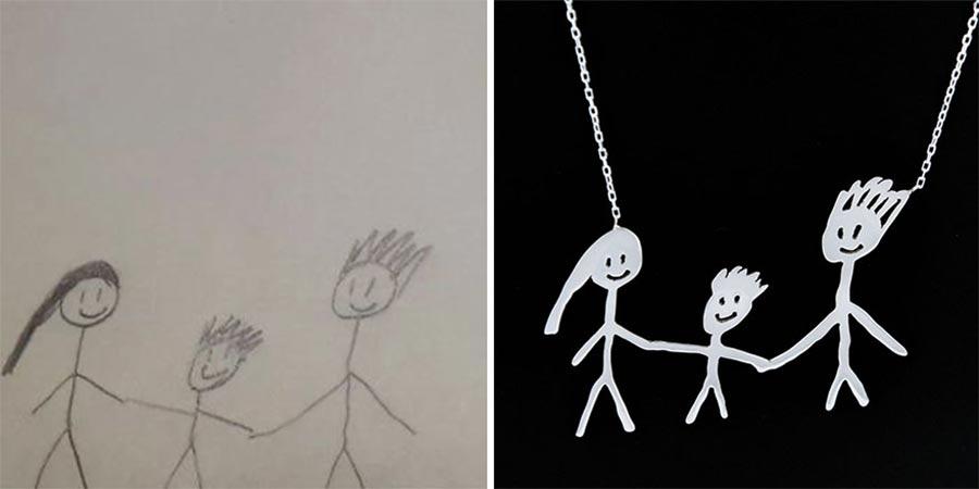 Aus Kinderzeichnungen werden Schmuckstücke kinderzeichnungen-schmuck_08