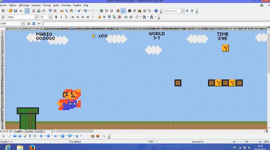 Super Mario Bros. in Excel