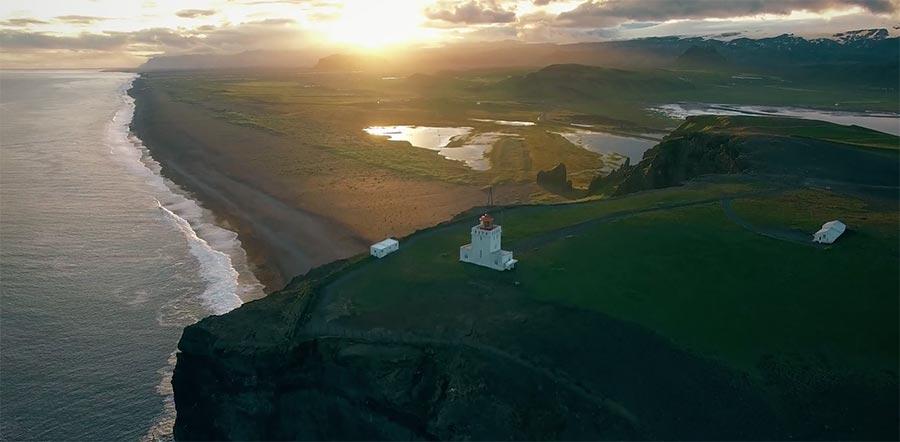 Mit der Drohne über Island vindur