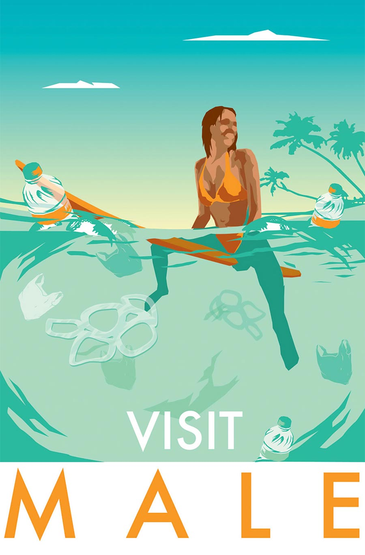 Ehrliche Reise-Destinations-Poster