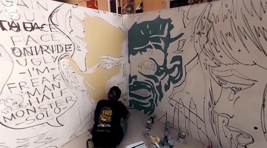 Mural-Malerei im 360°-Timelapse 360-mural-timelapse