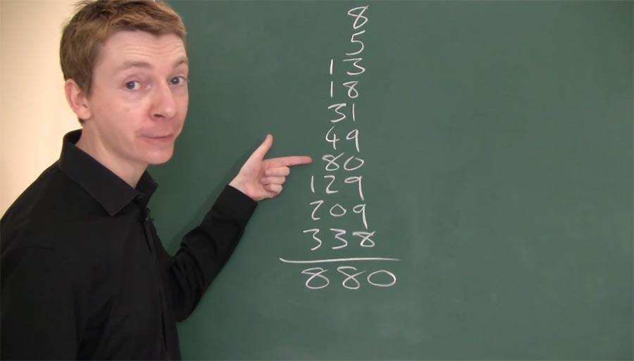 Beeindrucke deine Freunde mit dem Fibonacci-Trick Fibonacci-trick