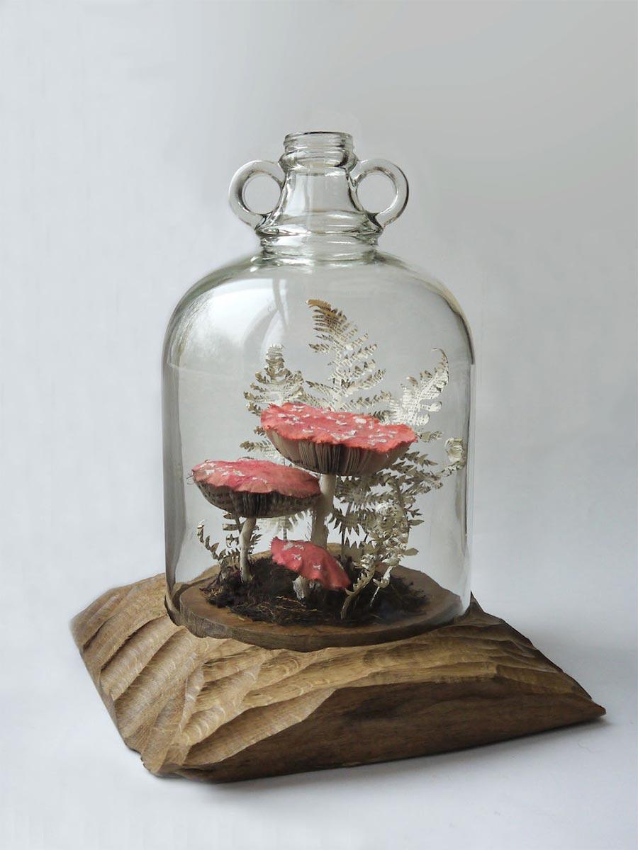 Blumen, Pilze und Insekten aus Papier Kate-Kato_02