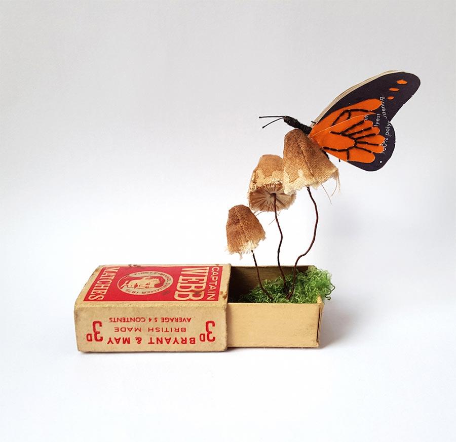 Blumen, Pilze und Insekten aus Papier Kate-Kato_03