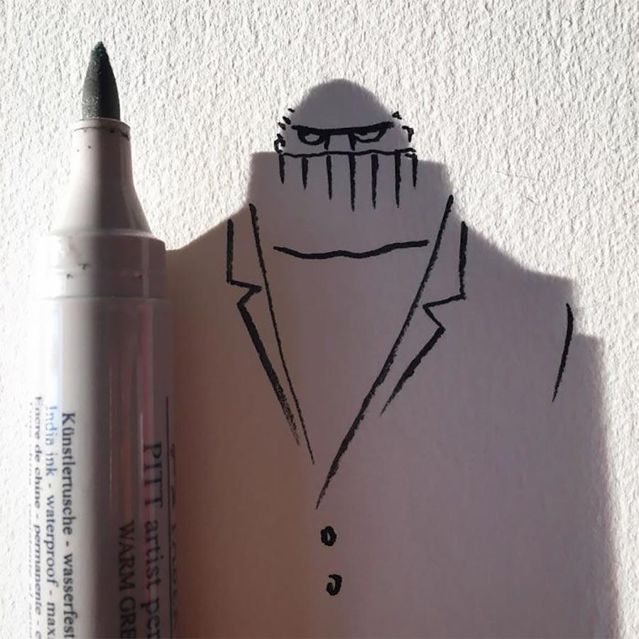 Schatten als Zeichnungs-Helfer Vincent-Bal-shadow-drawings_04