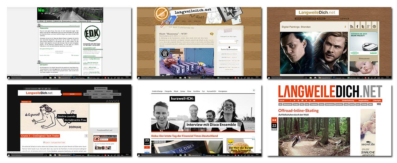 10 Jahre LangweileDich.net! design-evolution-lwdn
