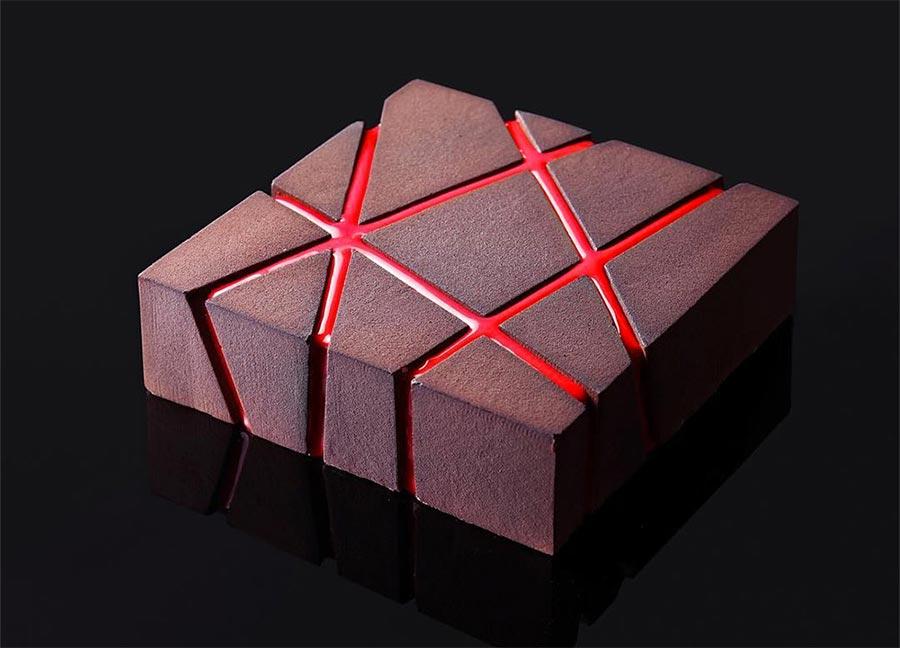 Geometrische Kuchenkunst