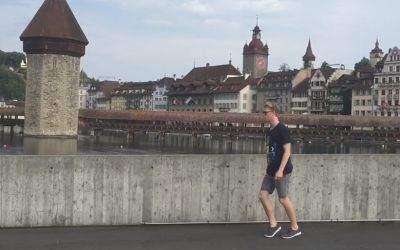 Guy Moonwalks Across Europe