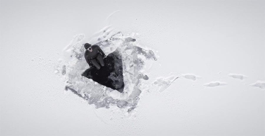 Videoportrait einer Eistieftaucherin