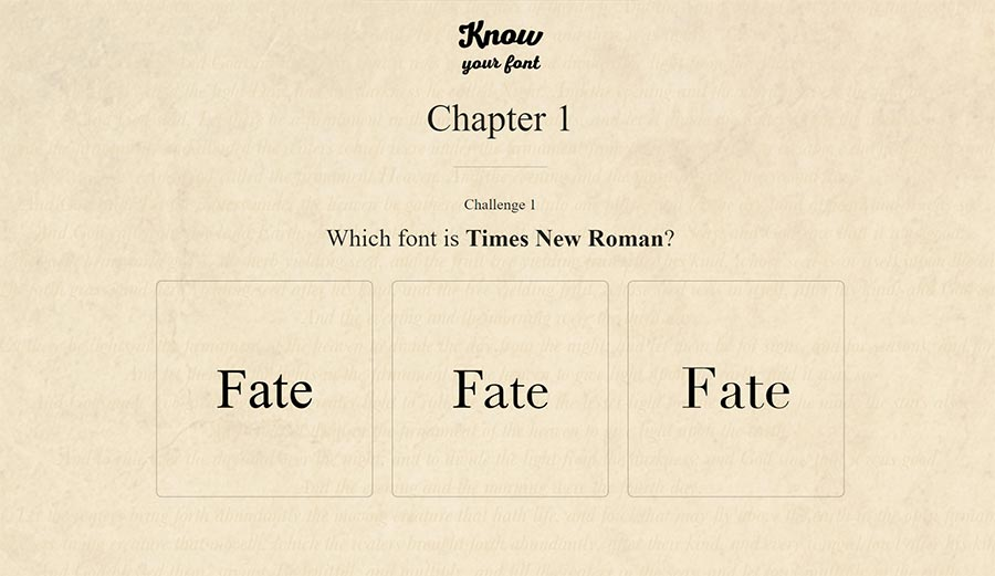 know-your-font