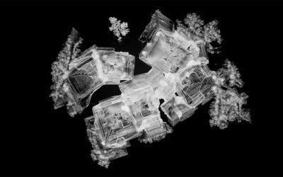 Kristallisation in Nahaufnahme