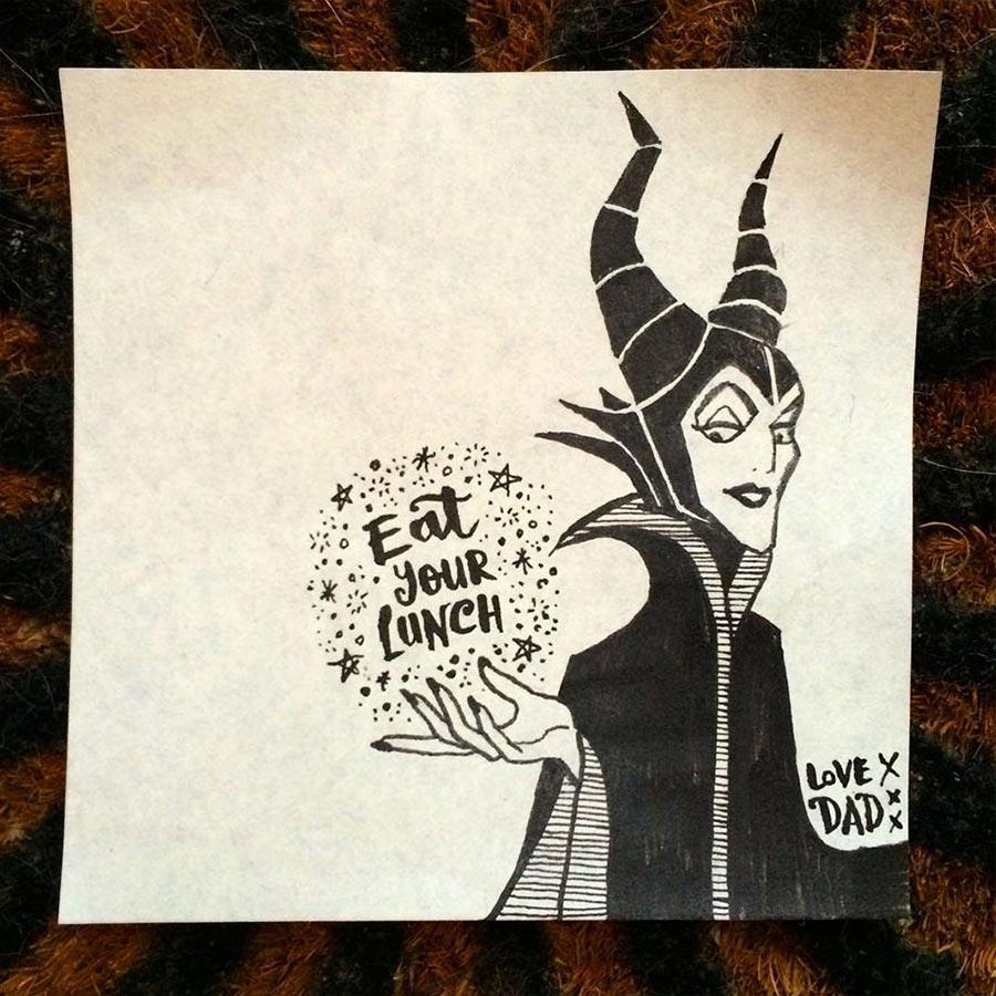Tochter bekommt täglich neue Post-Its in die Pausenbrot-Tüte lunch-bag-art_08