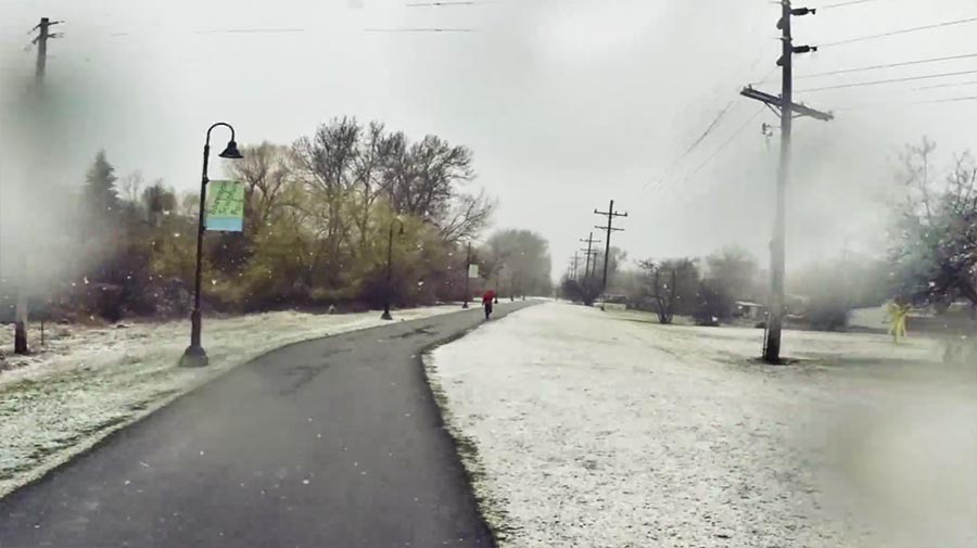 Per Timelapse durchs Jahr joggen running-the-seasons