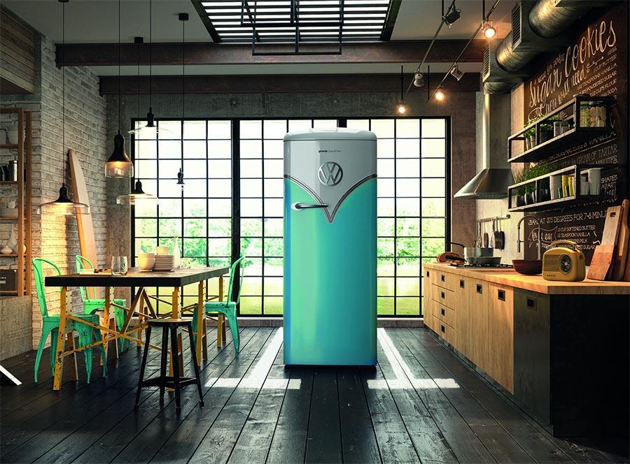 Kühlschrank im Stile des T1-Bullis