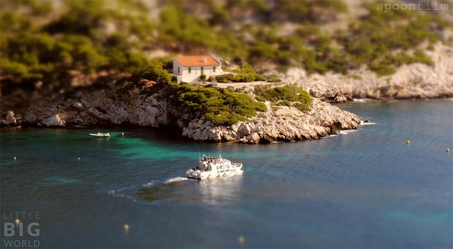 Tilt-Shift: Calanques de Marseille Calanques-de-Marseille