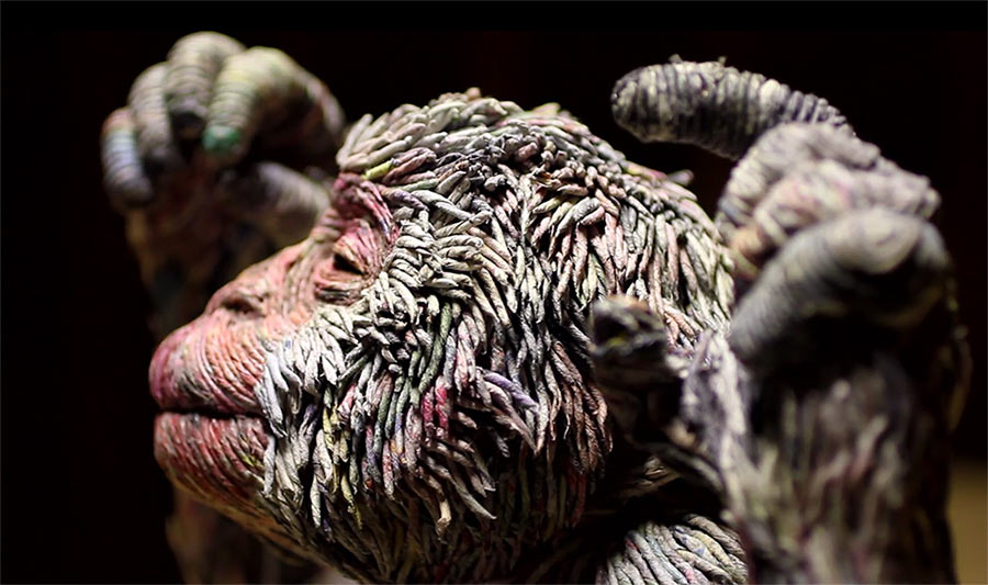 Tierskulpturen aus Zeitungsröllchen Chie-Hitotsuyama_03