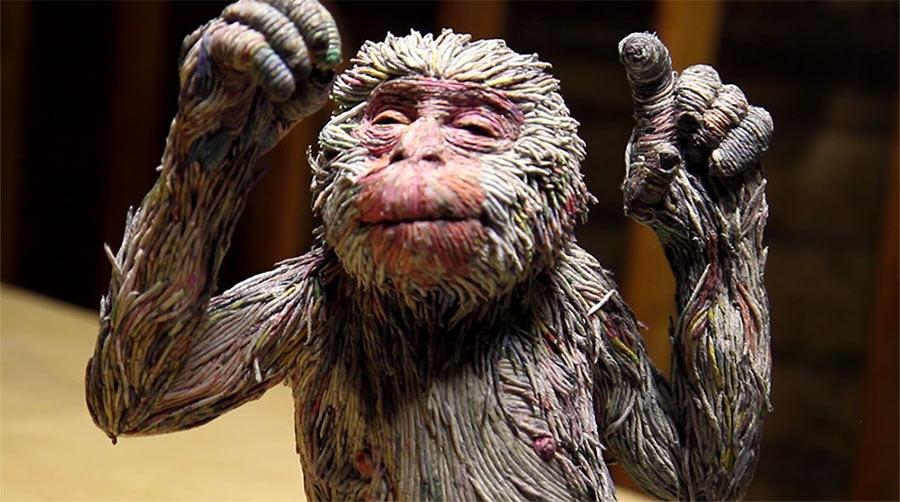 Tierskulpturen aus Zeitungsröllchen Chie-Hitotsuyama_05