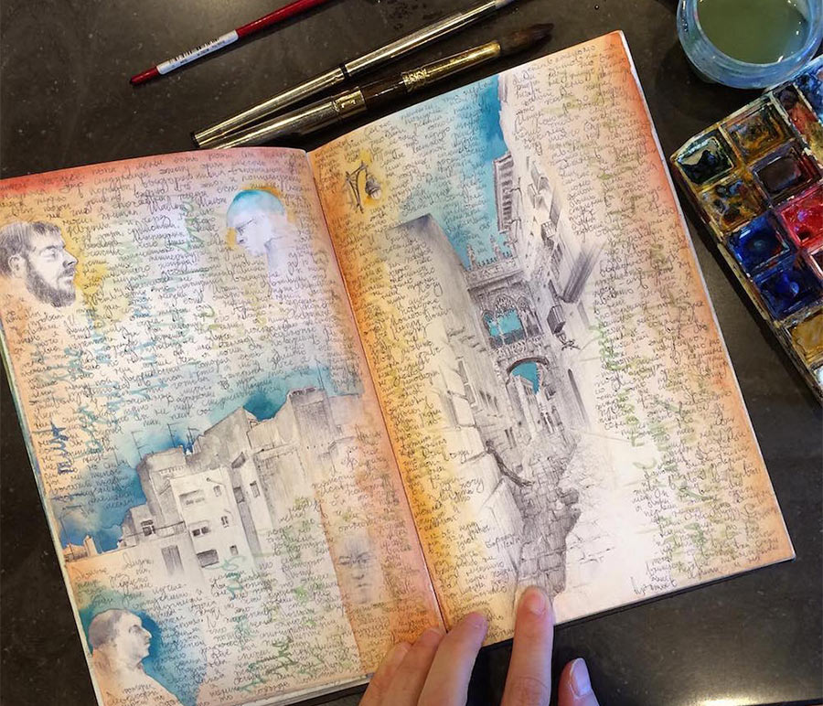 Dina Brodskys Skizzenbuch