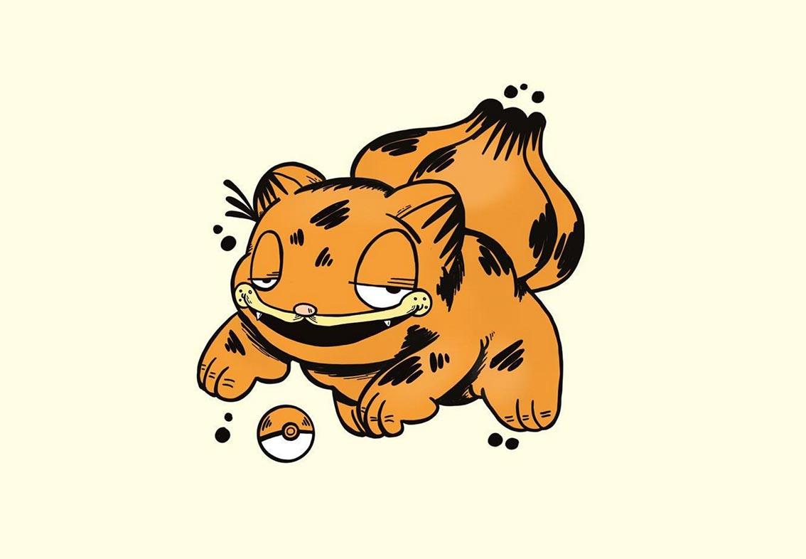 Pokémon als Garfield gezeichnet Garfemon_01
