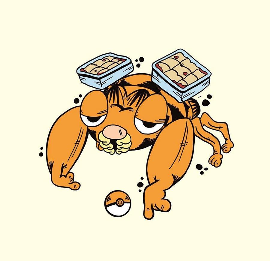 Pokémon als Garfield gezeichnet Garfemon_03