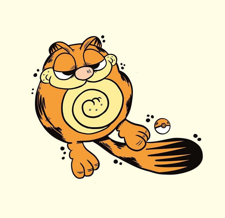 Pokémon als Garfield gezeichnet Garfemon_08