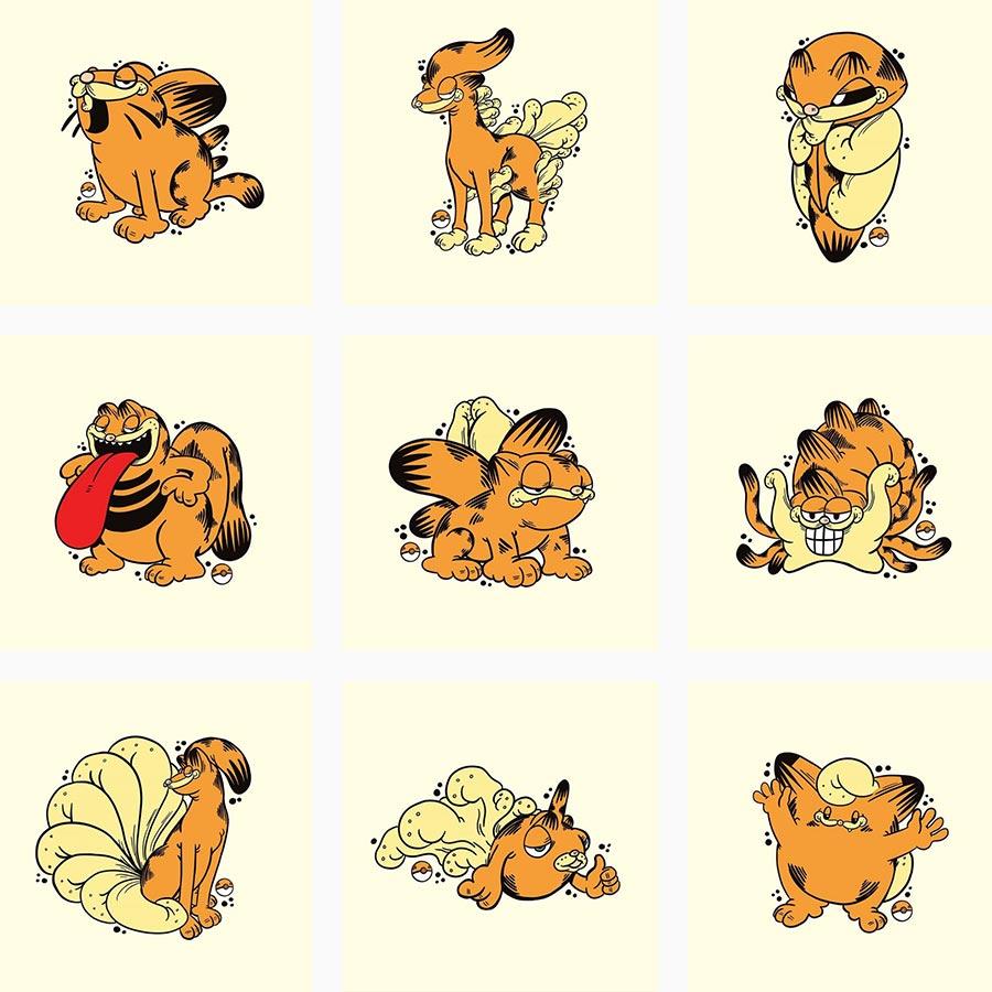 Pokémon als Garfield gezeichnet Garfemon_09