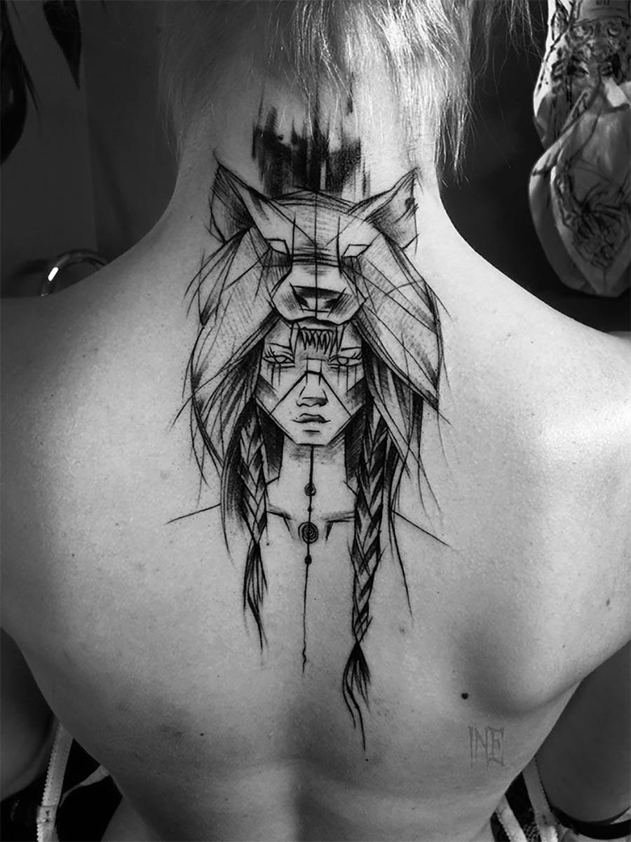 Tolle Skizzen-Tattoos von Inez Janiak