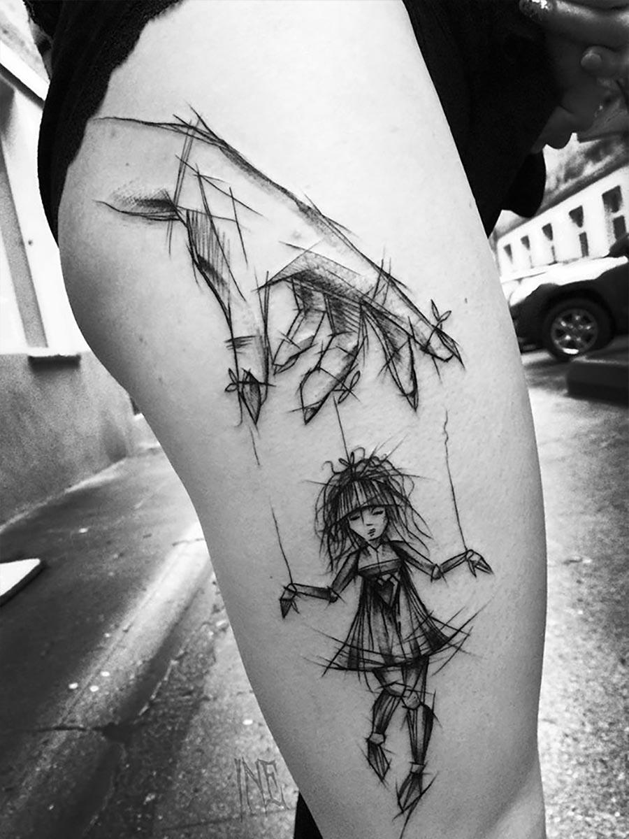 Tolle Skizzen-Tattoos von Inez Janiak Inez-Janiak_06