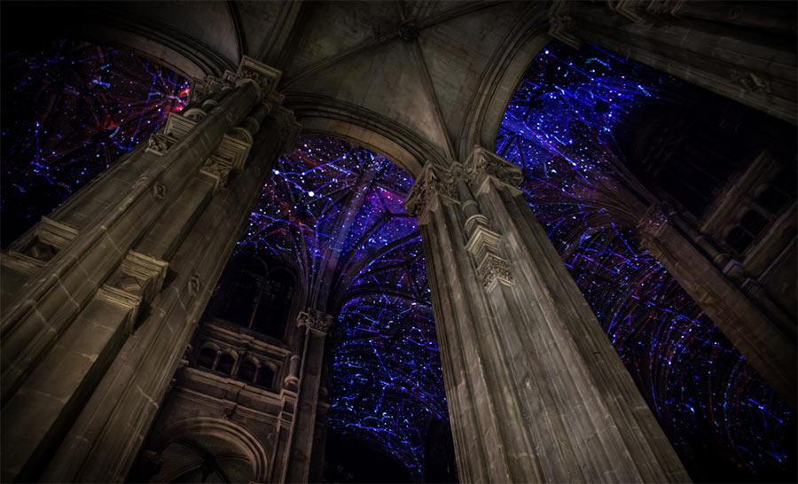 Sternenhimmel unterm Kirchdach Miguel-CHEVALIER