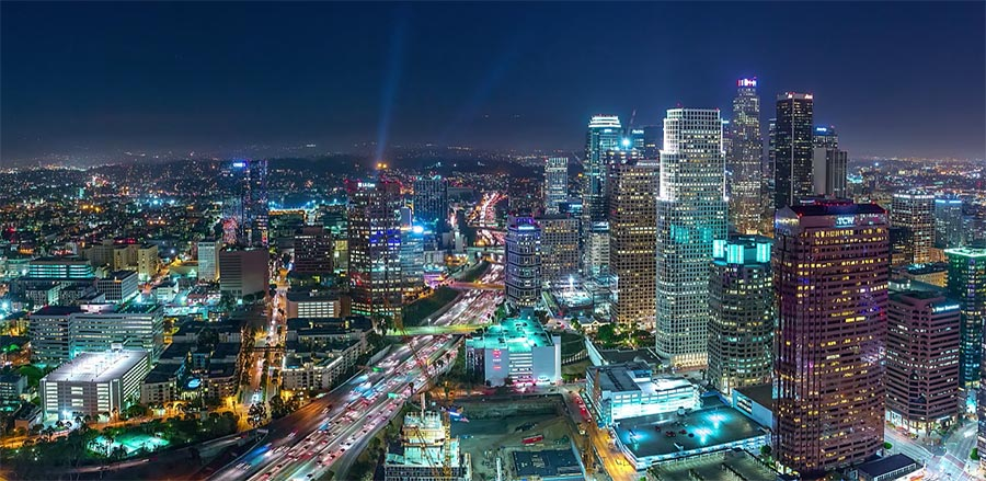 Los Angeles im 10K Panorama-Timelapse