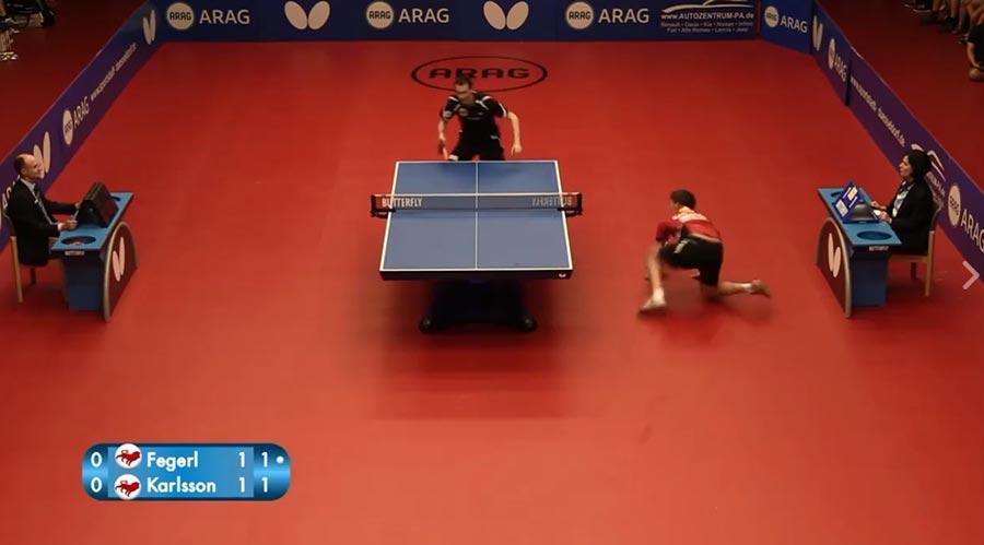 Absurde Tischtennis-Ballwechsel: Fegerl vs. Karlsson
