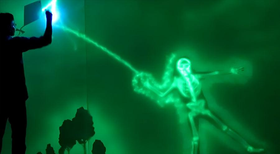 Interaktive Leuchtwand