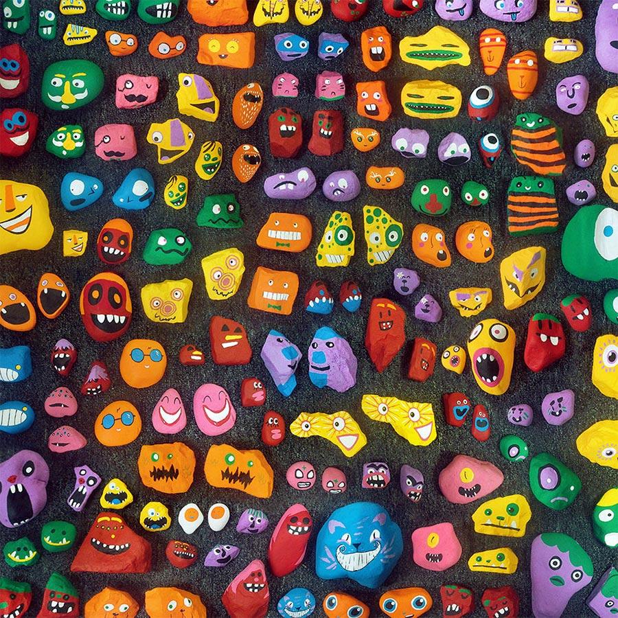 6-Jähriger bemalt 1.000 Steine mit Gesichtern und versteckt sie hidden-face-stones_06