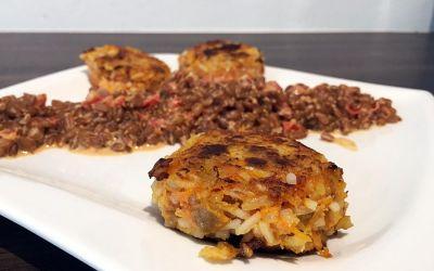 Ein-Minuten-Menü: Karotten-Frikadellen an Dinkel