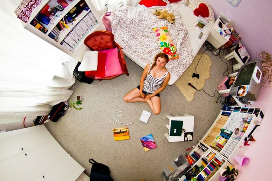 Millennial-Schlafzimmer aus aller Welt