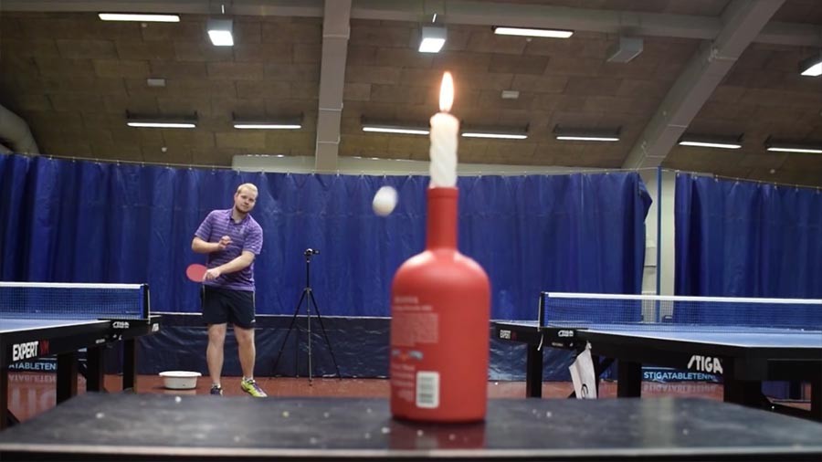 Unglaubliche Tischtennis-Trickshots