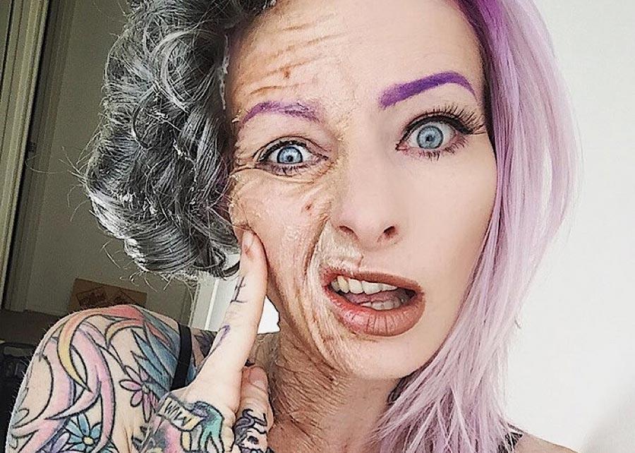 Grauenhafte Make-up-Ideen für Halloween